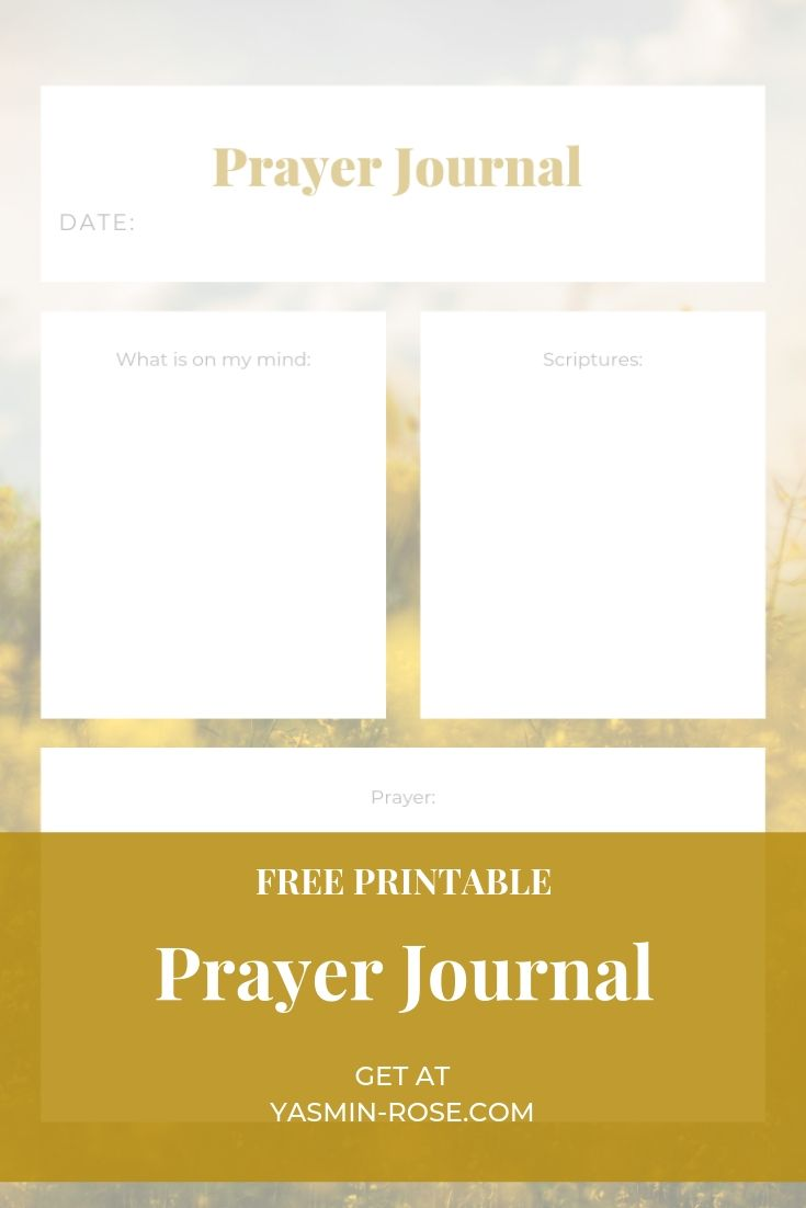 photograph about Printable Prayer Journal Pdf referred to as PRINTABLES - Yasmin Rose